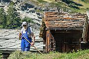 Winkelmatten is a suburb of Zermatt, in the Pennine Alps, Switzerland, Europe. For licensing options, please inquire.