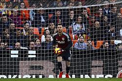 November 24, 2018 - Valencia, Spain - Norberto Neto of Valencia CF  during la liga Match between Valencia CF and Rayo Vallecano a at Mestalla  Stadium on  November 24, 2018. (Credit Image: © Jose Miguel Fernandez/NurPhoto via ZUMA Press)