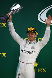 2nd place Nico Rosberg (GER) Mercedes AMG Petronas F1 W07.<br /> 13.11.2016. Formula 1 World Championship, Rd 20, Brazilian Grand Prix, Sao Paulo, Brazil, Race Day.<br />  <br /> / 131116 / action press