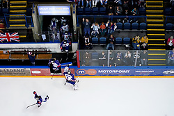 Great Britain make their way onto the ice before their Beijing 2022 Olympics Women's Pre-Qualification Round Two Group F match against Republic of Korea at the Motorpoint Arena, Nottingham.