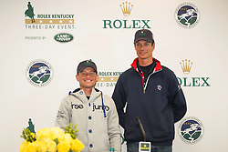 Jung Michael, (GER), Fox-Pitt William, (GBR)<br /> Second day of the Dressage<br /> Rolex Kentucky Three Day Event CCI4* <br /> Lexington 2015<br /> © Hippo Foto - Libby Law<br /> 26/04/15