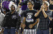 Cedar Ridge students were enthralled watching the Raiders beat Bowie Friday, November 15, 2013 at Kelly Reeves Athletic Complex.  (LOURDES M SHOAF for Round Rock Leader)