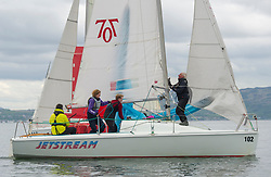 Day1 Hunter 707, 7102, Jetstream<br /> <br /> The Scottish Series, hosted by the Clyde Cruising Club is an annual series of races for sailing yachts held each spring. Normally held in Loch Fyne the event moved to three Clyde locations due to current restrictions. <br /> <br /> Light winds did not deter the racing taking place at East Patch, Inverkip and off Largs over the bank holiday weekend 28-30 May. <br /> <br /> Image Credit : Marc Turner / CCC