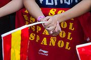 Hands of a fan