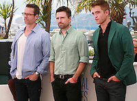 Guy Pearce, Director David Michod and Robert Pattinson at the photo call for the film The Rover at the 67th Cannes Film Festival, Sunday 18th May 2014, Cannes, France.