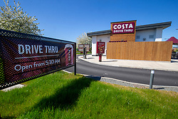 Closed Costa GV at Springkerse Retail Park. Stirling area lockdown 6/5/2020.
