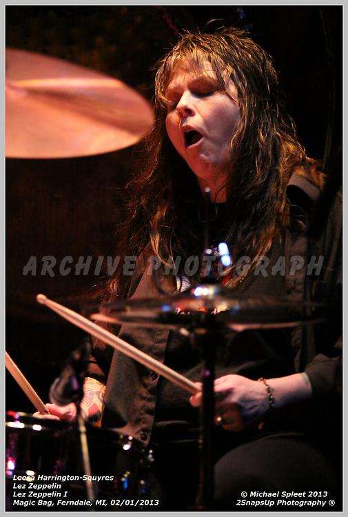 FERNDALE, MI, FRIDAY, FEB. 01, 2013 : Lez Zeppelin,  at Magic Bag, Ferndale, MI, 02/01/2013.  (Image Credit: Michael Spleet / 2SnapsUp Photography)
