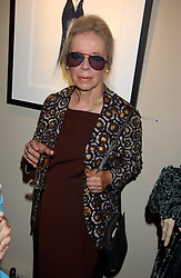 VERONICA, COUNTESS OF LUCAN at a private view of fashion designer Lindka Cierach's Couture Dresses drawn by Trudy Good held at the Belgravia Gallery, 45 Albemarle Street, London on 21st September 2005.<br />