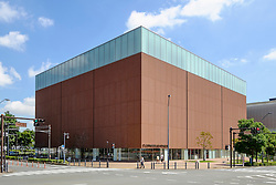 Exterior view of Cup Noodle Museum in Minato Mirai district of Yokohama Japan