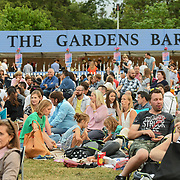 Thousands picnic at Kew The Music Festival 2018 Day 3 and watch THE LOUNGE KITTENS, NERINA PALLOT, and 2CELLOS in Kew Garden on 12 July 2018, London, UK.