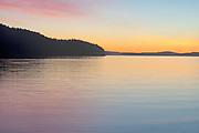 Pastel sunset #3, San Juan Islands, Washington State