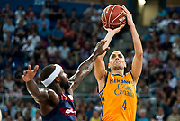 Herbalife Gran Canaria's player Albert Oliver and FC Barcelona Lassa player Tyrese Rice during the final of Supercopa of Liga Endesa Madrid. September 24, Spain. 2016. (ALTERPHOTOS/BorjaB.Hojas)
