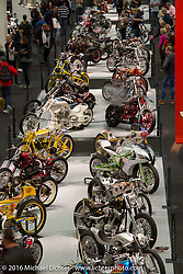 AMD World Championship of Custom Bike Building show in the custom themed Hall 10 at the Intermot Motorcycle Trade Fair. Cologne, Germany. Thursday October 6, 2016. Photography ©2016 Michael Lichter.