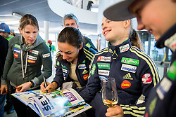 Vesna Fabjan; maja Vtic and Nika Kriznar during official presentation of the outfits of the Slovenian Ski Teams before new season 2016/17, on October 18, 2016 in Planica, Slovenia. Photo by Vid Ponikvar / Sportida