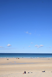 Porthmeor beach, St Ives, Cornwall UK Oct 2020