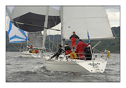 Sailing - The 2007 Bell Lawrie Scottish Series hosted by the Clyde Cruising Club, Tarbert, Loch Fyne..The third days racing on Loch Fyne with a mix of weather from the North and West...CYCA Class 6 Respite 5151C.