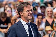 Premier Rutte aanwezig bij de viering van 75 jaar vrijheid in Terneuzen.