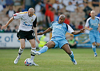 Photo: Glyn Thomas.<br />Port Vale v Manchester City. Pre Season Friendly. 26/07/2006.<br /> Manchester City's Ousmane Dabo (R) and Port Vale's Danny Whittaker.
