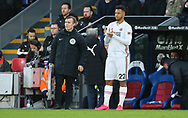 Sheffield United's Lys Mousset waits to come on as a substitute during the Premier League match at Selhurst Park, London. Picture date: 1st February 2020. Picture credit should read: Paul Terry/Sportimage