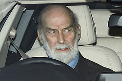 © Licensed to London News Pictures. 18/12/2019. London, UK. PRINCE MICHAEL OF KENT. Members of the Royal Family seen leaving Buckingham Palace in West London after attending the Queen's annual Christmas lunch. Photo credit: Ben Cawthra/LNP