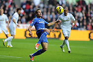 Chelsea's Cesar Azpillicueta © gets in ahead of Swansea's Ashley Williams.  Barclays Premier league, Swansea city v Chelsea at the Liberty Stadium in Swansea, Swansea, South Wales on Saturday 3rd November 2012. pic by Andrew Orchard, Andrew Orchard sports photography,