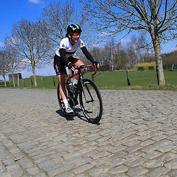 05-04-2015: Wielrennen: Ronde van Vlaanderen vrouwen: Belgie<br /> OUDENAARDE (BEL) cycling<br /> The 3th race in the UCI womens World Cup is the 12th edition of the Ronde van Vlaanderen. The race distance is 145 km with 12 Climbs and 5 zones of Cobbles.<br /> Lisa Brennauer