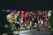 The pre-dawn start of the 4th annual Black Rock City Ultramarathon