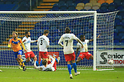 GOAL 2 - 1 Nicky Maynard of Mansfield Town (22) scores during the The FA Cup match between Mansfield Town and Dagenham and Redbridge at the One Call Stadium, Mansfield, England on 29 November 2020.