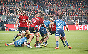 CRUSADERS 27 V 16 AUCKLAND BLUES<br /> 2020 AOTEAROA RUGBY CHAMPIONSHIP<br /> Orange Theory Stadium, Christchurch<br /> Photo Kevin Clarke CMGSPORT<br /> 11th June 2020<br /> ©cmgsport2020