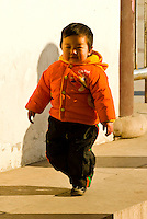 A little Chinese boy, Jinshan Park, Zhenjiang, China