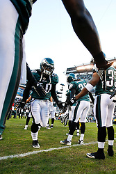Philadelphia Eagles linebacker Ernie Sims #50 enters the field before the NFL Game between the Indianapolis Colts and the Philadelphia Eagles. The Eagles won 26-24 at Lincoln Financial Field in Philadelphia, Pennsylvania on Sunday November 7th 2010. (Photo By Brian Garfinkel)