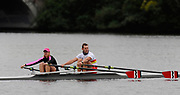 Brighton, USA,  Community Rowing Inc. Rowing Outreach Program rowing event, with the Great Eight, held at the CRI. <br /> . <br />  <br /> , Charles River, Boston, Massauchettes, Janit STAHL and marcel HACKER,  Thursday  15/10/2009  [Mandatory Credit Peter Spurrier Intersport Images]