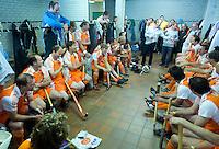 ROTTERDAM - In de kleedkamer bij afscheidswedstrijd TEUN DE NOOIJER. FOTO KOEN SUYK