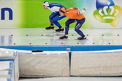 10-11-2017 NED: ISU World Cup, Heerenveen<br /> 500 m men, Ronald Mulder NED, Pavel Kulizhnikov RUS