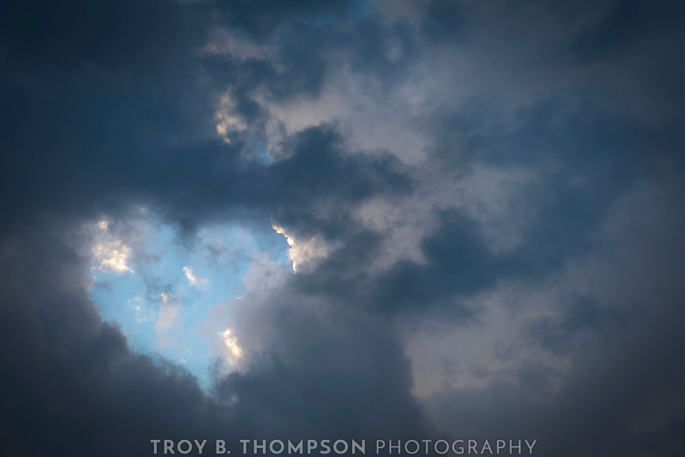 Standing outside watching a storm approach, I saw this in the clouds.