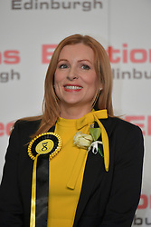 SCOTTISH PARLIAMENTARY ELECTION 2016 – Ash Denham, Scottish National Party (SNP) winning the Eastern parliamentary election at the Royal Highland Centre, Edinburgh for the counting of votes and declaration of results.<br />