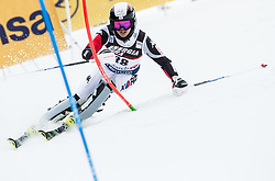 """Donghyun Jung (KOR) competes during 1st Run of FIS Alpine Ski World Cup 2017/18 Men's Slalom race named """"Snow Queen Trophy 2018"""", on January 4, 2018 in Course Crveni Spust at Sljeme hill, Zagreb, Croatia. Photo by Vid Ponikvar / Sportida"""