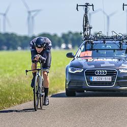 EMMEN (NED) June 16: <br />CYCLING <br />Dutch Nationals Time Trail men U23 Lars Hohman