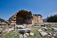 Picture of a Tomb  North Necropolis. Hierapolis archaeological site near Pamukkale in Turkey. .<br /> <br /> If you prefer to buy from our ALAMY PHOTO LIBRARY  Collection visit : https://www.alamy.com/portfolio/paul-williams-funkystock/pamukkale-hierapolis-turkey.html<br /> <br /> Visit our TURKEY PHOTO COLLECTIONS for more photos to download or buy as wall art prints https://funkystock.photoshelter.com/gallery-collection/3f-Pictures-of-Turkey-Turkey-Photos-Images-Fotos/C0000U.hJWkZxAbg
