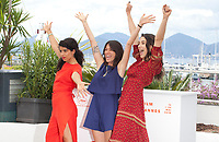 Lina Caicedo, Raquel Alvarez and Fiammetta Luino at Diego Maradona film photo call at the 72nd Cannes Film Festival, Monday 20th May 2019, Cannes, France. Photo credit: Doreen Kennedy