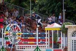 RÜDER Hans Thorben (GER), SINGU<br /> Münster - Turnier der Sieger 2019<br /> Preis der SPARKASSE MÜNSTERLAND OST<br /> CSI4* - Int. Jumping competition with one jump-off (1.50 m) <br /> Finale Mittlere Tour<br /> 04. August 2019<br /> © www.sportfotos-lafrentz.de/Stefan Lafrentz