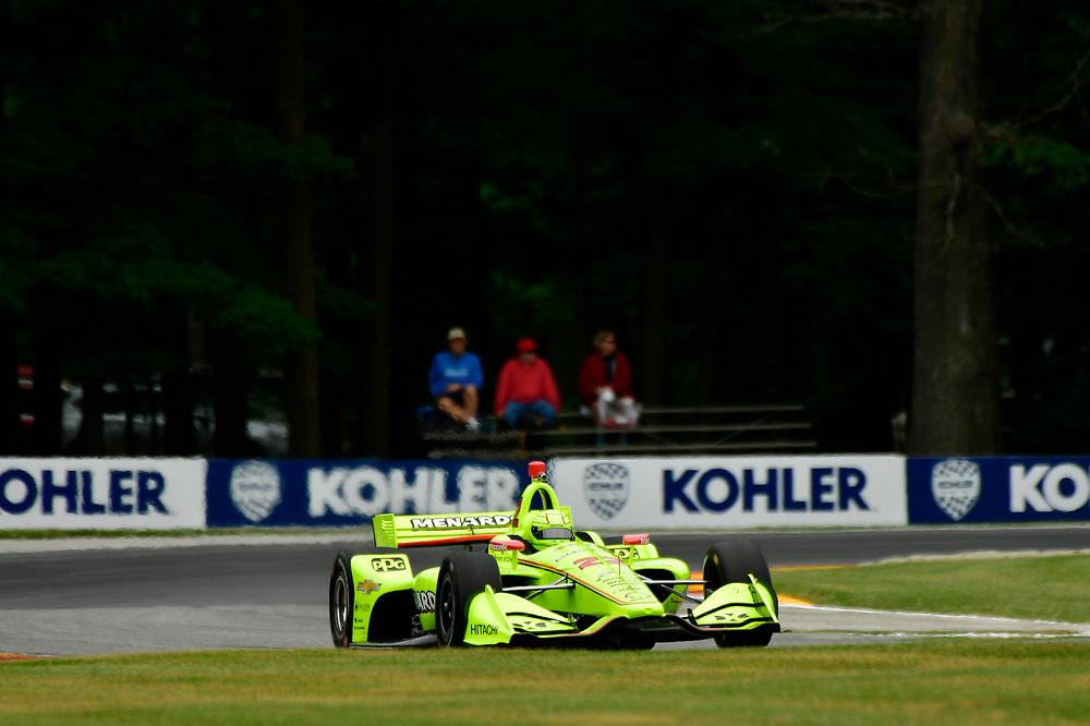 Simon Pagenaud, Team Penske Chevrolet<br /> Friday 22 June 2018<br /> KOHLER Grand Prix at Road America<br /> Verizon IndyCar Series<br /> Road America WI USA<br /> World Copyright: Scott R LePage