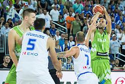 Nebojsa Joksimovic of Slovenia during basketball match between Slovenia vs Greece at Day 5 in Group C of FIBA Europe Eurobasket 2015, on September 9, 2015, in Arena Zagreb, Croatia. Photo by Vid Ponikvar / Sportida
