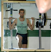 Cambridge, GREAT BRITAIN, Kieran WEST, Early morning Ergo and weight training, for Cambridge, 2007 Boat Race Squad training, members, at the Goldie Boathouse, Cambridge, ENGLAND on Wed. 08.11.2007, [Photo, Peter Spurrier/Intersport-images]