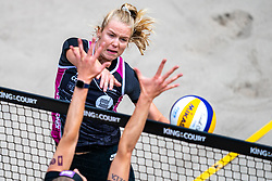 Lezana Placette FRA in action during the last day of the beach volleyball event King of the Court at Jaarbeursplein on September 12, 2020 in Utrecht.