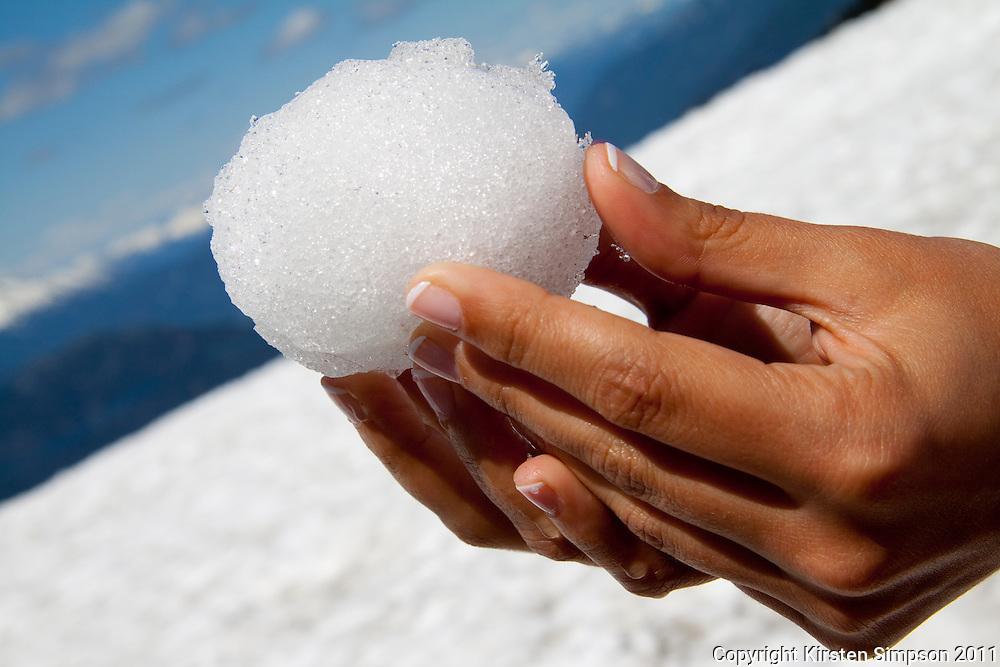 Snowballs on Blackcomb Peak