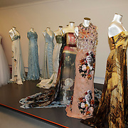 NLD/Laren/20150124 - Modeshow Addy van den Krommenacker Fall Winter 2015 'London revisited', jurken