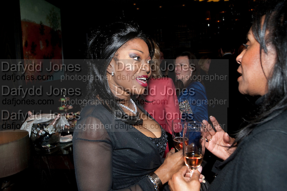 PATTI BOULAYE; THERESA ROBERTS, Liz Brewer GIVES A PARTY TO WELCOME 2010, Champagne <br /> Flemings Mayfair, 13 Half Moon Street, London. 5 January 2010