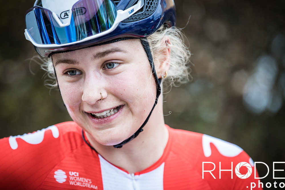 Emma Norsgaard (DEN/Movistar) wins the stage and takes the yellow jersey as new leader in GC<br /> <br /> Ceratizit Festival Elsy Jacobs (LUX) 2021<br /> UCI Women Elite 2.1<br /> Day 2 – stage : Steinfort >Steinfort 125.1km  <br /> <br /> ©RhodePhoto