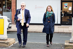 © Licensed to London News Pictures. 15/11/2017. Wakefield, UK. Don & Kerry Maguire (husband & daughter of Ann Maguire) arrive for the third day of the Ann Maguire inquest at Wakefield Coroners Court this morning. Mrs Maguire, a 61 year old Spanish teacher, was stabbed to death by Will Cornick at Corpus Christi Catholic College in Leeds in April 2014. The school pupil, who was 15 at the time, admitted murdering Mrs Maguire and was given a life sentence later that year. Since then, some of Mrs Maguire's family have campaigned for further investigation into her death as they believe more could have been done to prevent the tragedy. Photo credit: Andrew McCaren/LNP